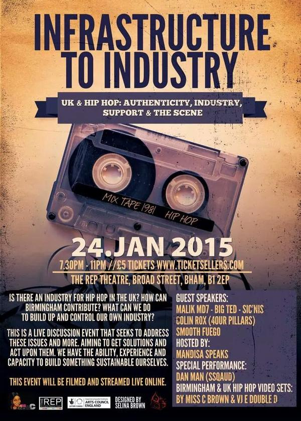 BRITHOPTV: [Event] Hip Hop Event : Infrastructure to Industry: January 24, 2015. The Rep Theatre @djmisscbrown @sicnis @4ourpillars @malikmd7 | #UKRap #UKHipHop