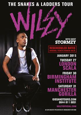 Wiley Snakes and ladders Tour January 2015