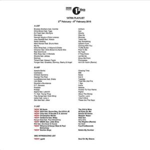 BRITHOPTV: [News] BBC 1Xtra Playlist February 2 - 8 | #Music #MusicNews