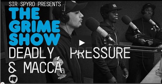 BRITHOPTV- [Video Set] Deadly (@DeadlyStayFresh), Pressure (@PRessure0121) & Macca (@MaccaStayFresh) on @SirSpyro #GrimeShow [@RinseFM] - #Grime