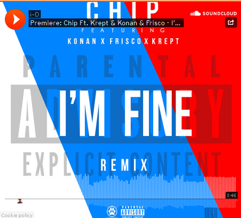 Chip I'm Fime remix Krept And Konan and Frisco