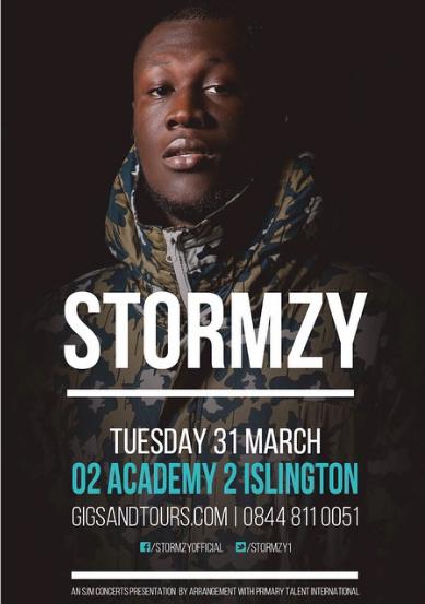 BRITHOPTV: [News/Events] Stormzy's First Ever Headline Show, Tuesday, March 31, O2 Academy2, London| #Grime #UKRap