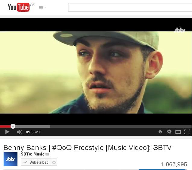 BRITHOPTV: [News] Benny Banks (@MrBennyBanks) - '#QoQ Freestyle' Hits One Million YouTube Views | #Music #MusicNews