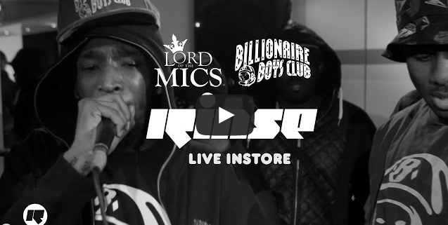 BRITHOPTV- [Video Set] Lord of the Mics (@LordOfTheMics) x Billionaire Boys Club x Rinse — Live Instore [@RinseFM] - #Grime