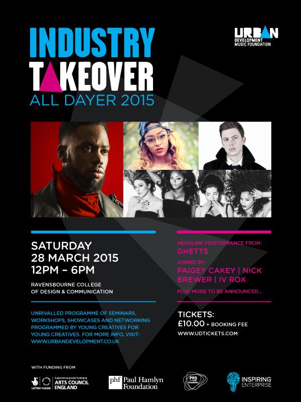 BRITHOPTV: [Event] Urban Development Industry Takeover All Dayer 2015: Saturday, March 28 ,  12:00-6;00pm Ravernsbourne College of Design & Communication. SE10 0EW| #UrbanMusic #MusicIndustry #UKHipHop