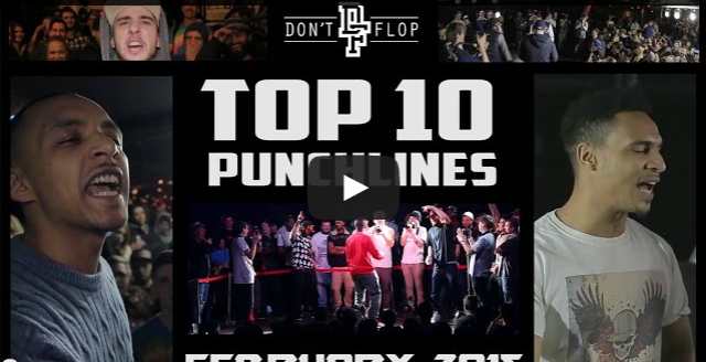 BRITHOPTV- [Battle Video] Top 10 Punchlines February 2015 [@DontFlop] I #UKHipHop #UKBattleRap