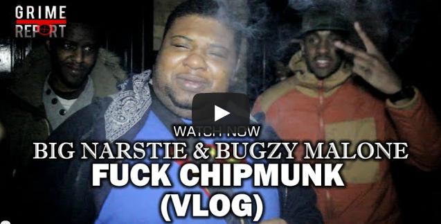 BRITHOPTV- [Behind The Scenes] Bugzy Malone (@TheBugzyMalone) & Big Narstie (@BigNarstie) – 'F--k Chipmunk' Video Shoot Vlog [@GrimeReportTV] - #Grime