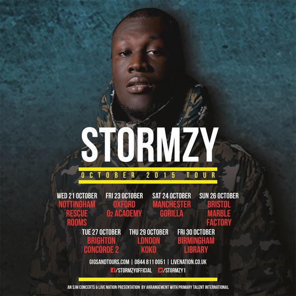 BRITHOPTV: [News/Events] Stormzy Announces October 2015 UK Tour Dates | #Grime #UKRap