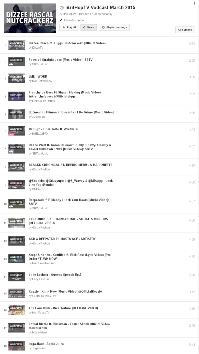 BritHopTV Vodcast March 2015