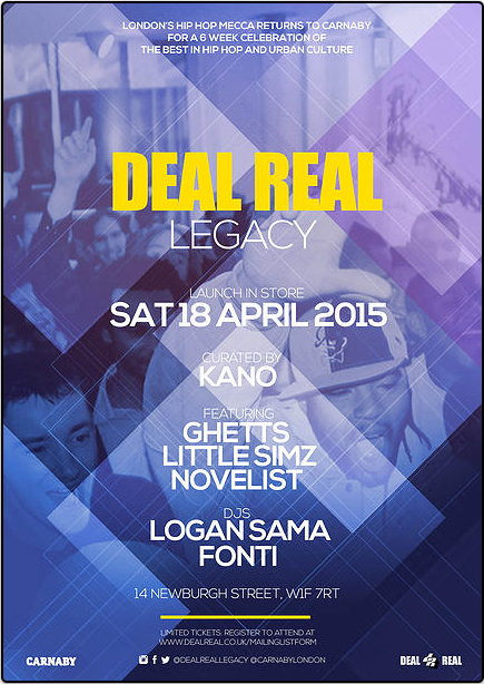 Deal Real Legacy launch Saturday 18 April