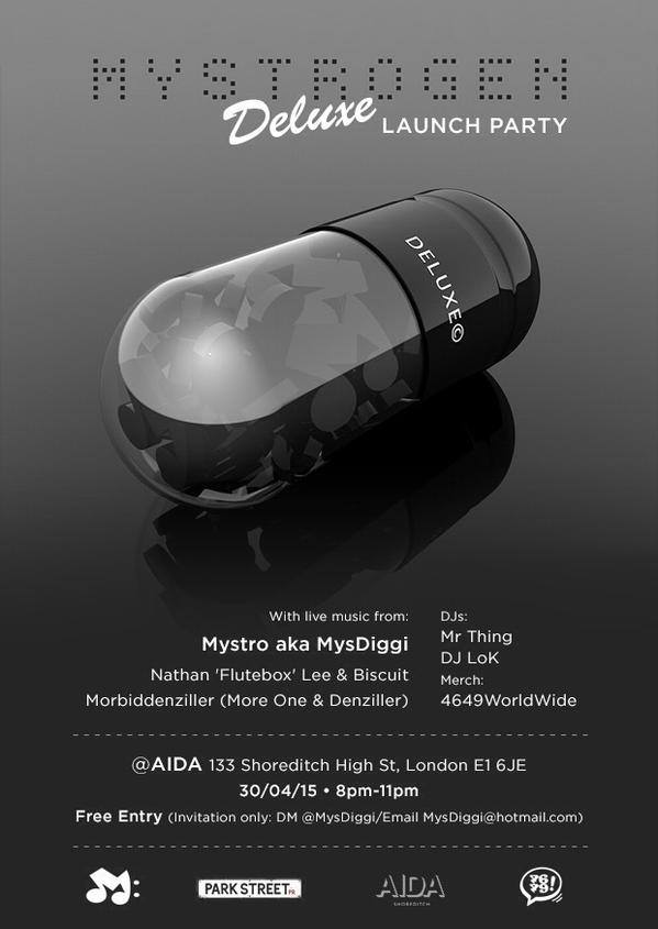 BRITHOPTV: [Event] Mystro (@Mysdiggi) #MystrogenDeluxe Launch Party, Thursday April 30, @ Aidia 133 Shoreditch High Street, London E1 JE | #UKRap #UKHipHope