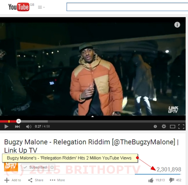 Bugzy Malone Relegation Riddim 2 M Views WM