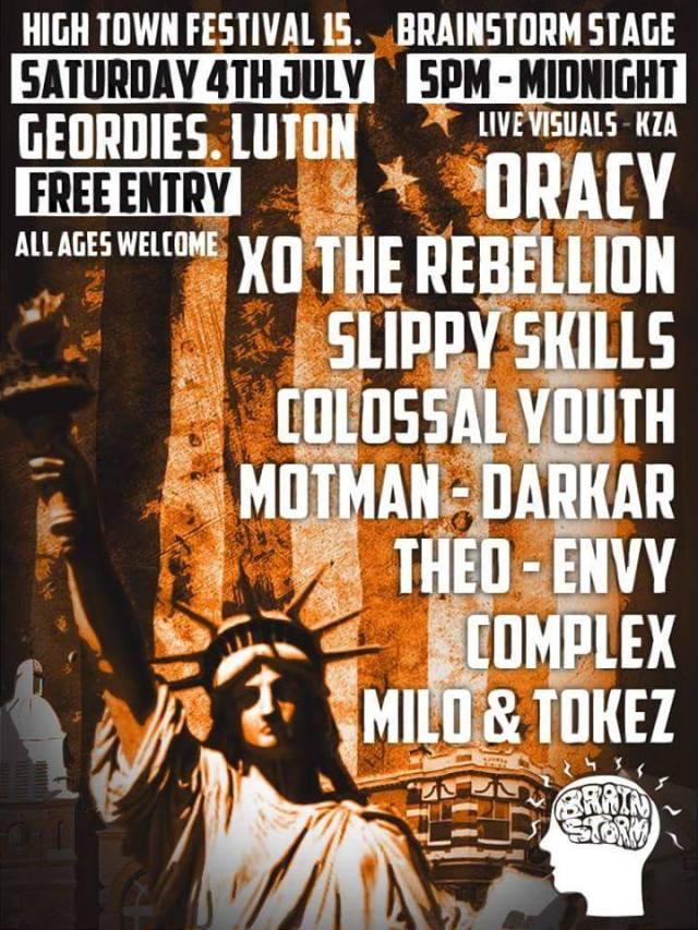 BRITHOPTV: [Event] Hightown Festival; XO The Rebellion (@XOTheRebellion) Oracy (@OracyMusic)  Slippy Skills (@SlippySkills) Saturday, July 4,  5:00pm -12:00am, Geordies, Luton, | #UKRap #UKHipHop