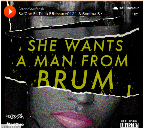 BRITHOPTV: [New Music] SafOne (@SafOneStayFresh) - 'She Wants A Man From Brum Ft Trilla (@Trilla0121), PRessure0121 (@PRessure0121), & Bomma B (@BommaB0121)' #Birmingham | #Grime