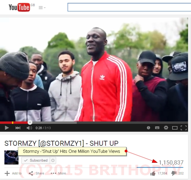 Stormzy Shut Up 1M Views WM