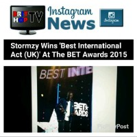 BRITHOPTV: [News] Stormzy (@Stormzy1)  Wins 'Best International Act (UK)' At The BET Awards 2015| #Grime #UKRap #MusicNews