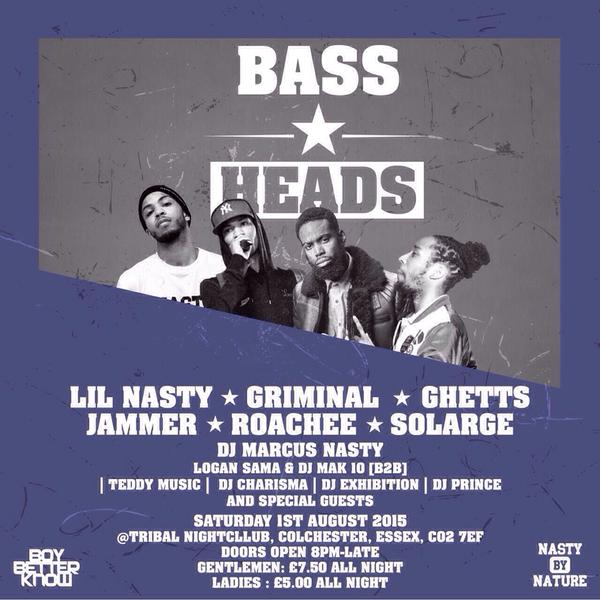 Bass heads 1st August
