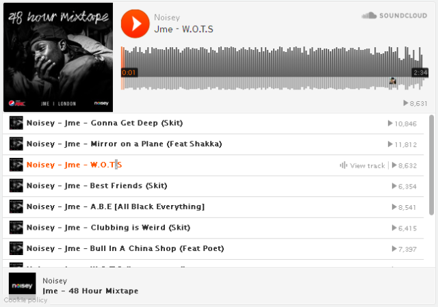 JME 48 hr mixtape player image