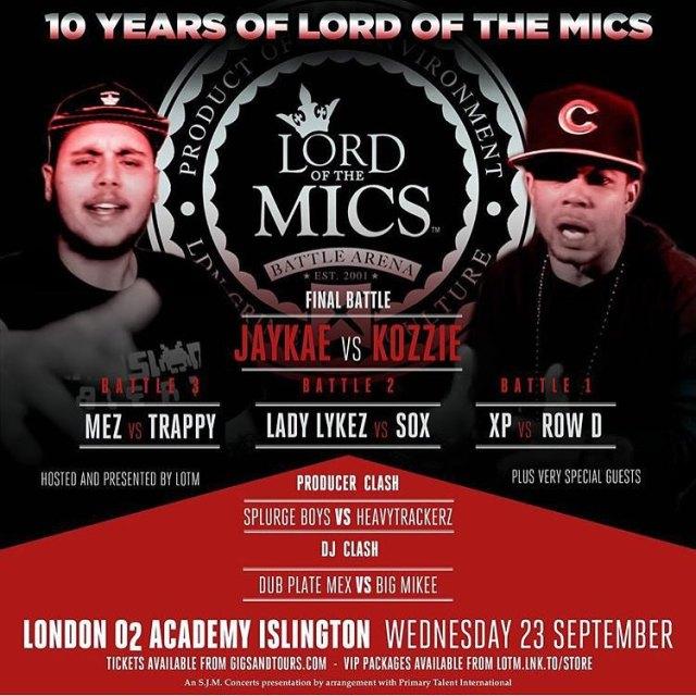 Lord Of The Mic 7 Jaykae & Kozzie 23 September