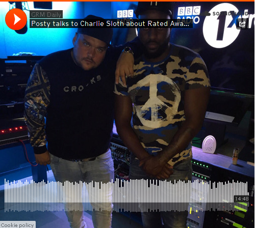 BRITHOPTV: [Audio Interview] Posty talks to Charlie Sloth (@CharlieSloth) about the #RatedAwards Jammer (@JammerBBk) and more on BBC R1 [@BBCR1] | #Grime #UKRap