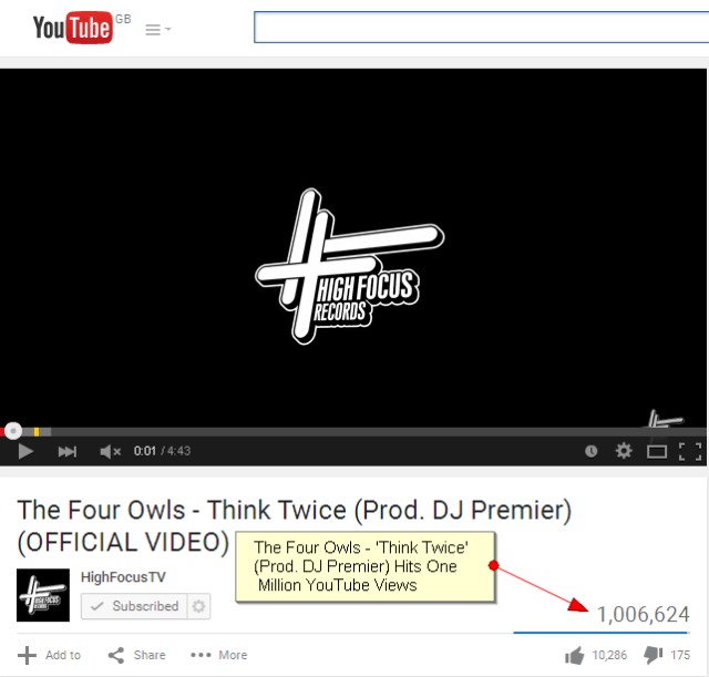 the Four Owls Think Twice 1Million Views