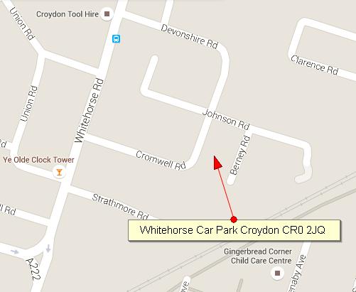 Whitehorse Carpark Location