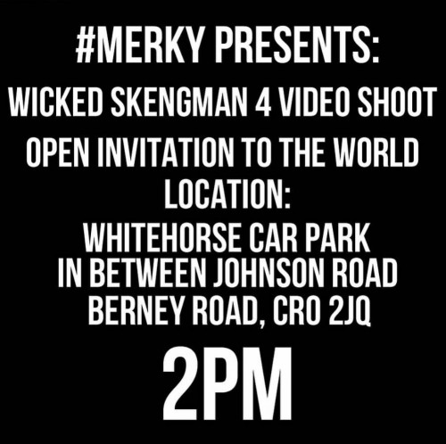 BRITHOPTV: [News/Event] Stormzy (@Stormzy1) Wicked Skengman 4 Video Shoot, Saturday August 15, 2pm, Whitehorse Car Park, Croydon, CR0 2JQ | #Grime #Music #MusicNews