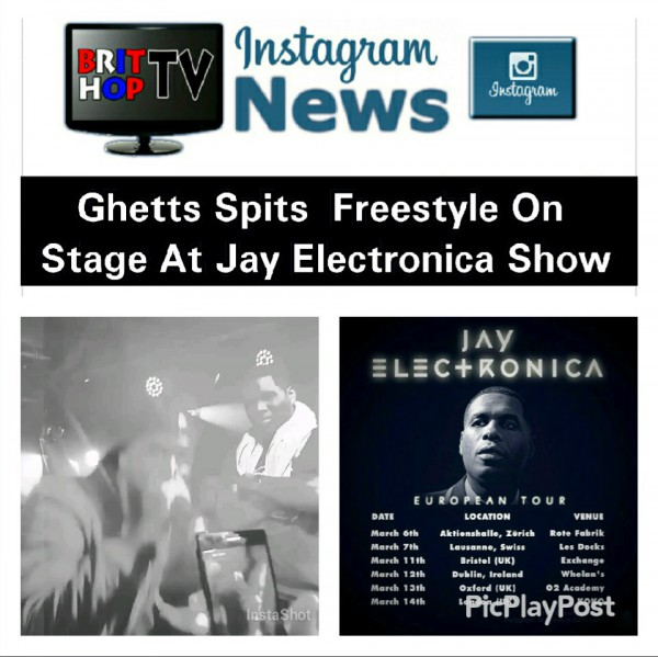 BRITHOPTV: [News] Ghetts (@JClarke_Ghetts) Spits Freestyle On Stage At Jay Electronica Show | #Grime #News #MusicNews