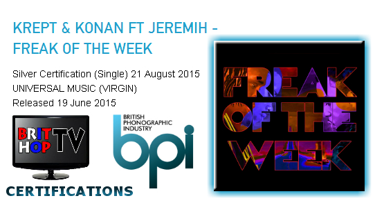 BRITHOPTV: [News] Krept (@KreptPlayDirty) & Konan (@KonanPlayDirty) - 'Freak Of The Week Ft. Jeremih (@Jeremih)' Goes Silver   #Music #MusicNews