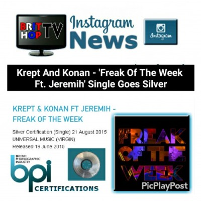 BRITHOPTV: [News] Krept (@KreptPlayDirty) & Konan (@KonanPlayDirty) - 'Freak Of The Week Ft. Jeremih (@Jeremih)' Goes Silver | #Music #MusicNews