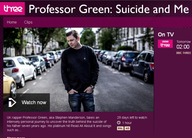 BRITHOPTV: [Documentary] Professor Green (@ProfessorGreen)  Suicide And Me  [BBC Three] | #Suicide  #MentalHealth