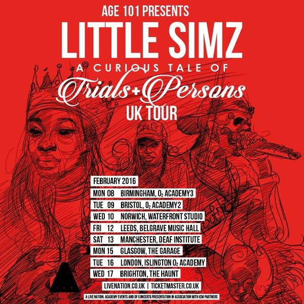 BRITHOPTV: [Event] Little Simz (@LittleSimz) ''Curious Tale Of Trails & Persons' UK Tour 2016 | #UKRap #UKHipHop