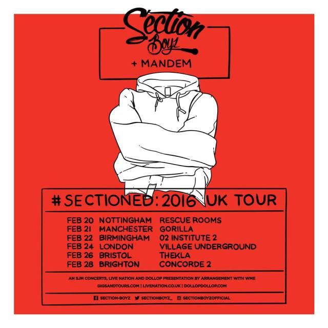 BRITHOPTV: [Event] Section Boyz (@SectionBoyz_) + Mandem  UK Tour 2016    #UKRap #UKHipHop