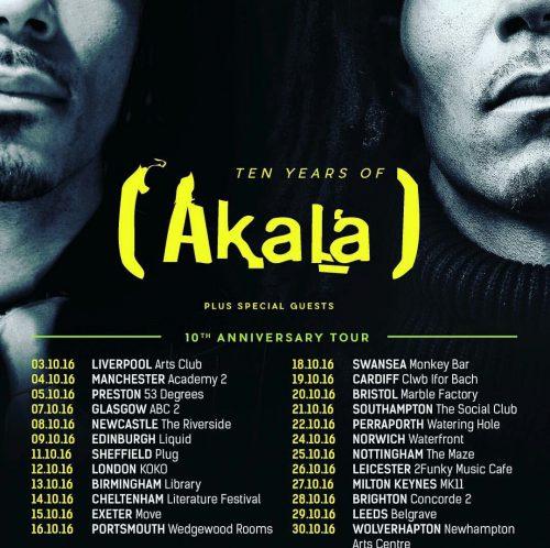 BRITHOPTV: [Event] Akala (@AkalaMusic) 'Ten Years of Akala' 10th Year Anniversary Tour 2016   #UKRap #UKHipHop