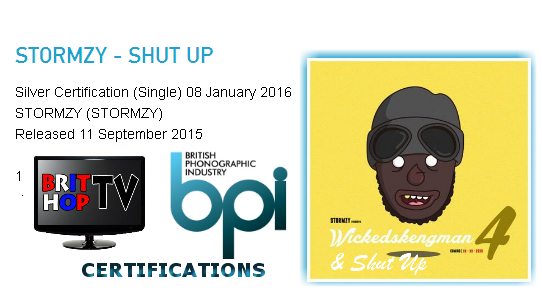 BRITHOPTV: [News] Stormzy (@Stormzy1) - 'Shut Up' Goes Silver | #Grime Music #MusicNews