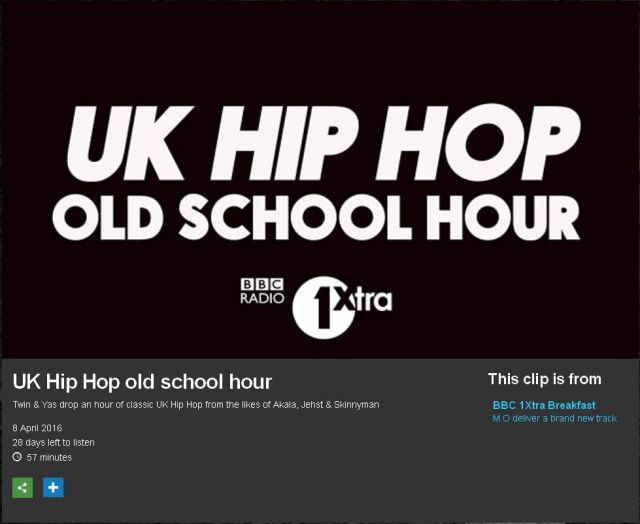 BRITHOPTV: [Radio Show] DJTwinB (@DJTwinB) & Yasmin (@YasminEvans) UK Hip-Hop Old School Hour 8 April 2016 [@1xtra]| #UKRap #UKHipHop