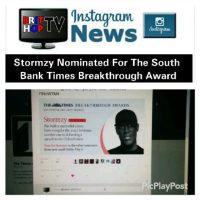 BRITHOPTV: [News] Stormzy (@Stormzy1) Nominated For The South Bank Times Breakthrough Award | #Grime #MusicNews