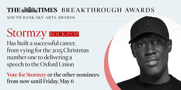 BRITHOPTV: [News] Stormzy (@Stormzy1) Nominated For South Bank Times Breakthrough Award | #Grime #MusicNews