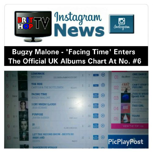 BRITHOPTV: [News] Bugzy Malone (@TheBugzyMalone) - 'Facing Time' Enters The Official UK Albums Chart At No. #6| #Grime #GrimeNews #MusicNews