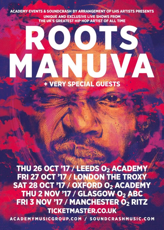 BRITHOPTV: [News/Event] Legendary UK-Hip-Hop Artist Roots Manuva To Embark On Mini UK Tour In October 2017 | #UKRap #UKHipHop