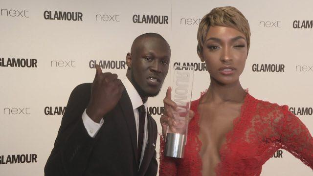 BRITHOPTV: [News] Stormzy (@Stormzy1) Presents Jourdan Dunn (@Jourdan Dunn) With Glamour Award | #Business #Grime #Fashio