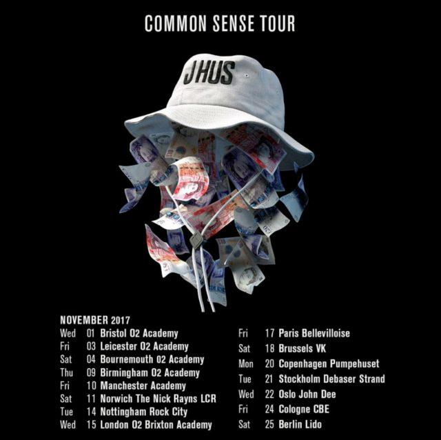 BRITHOPTV: [News/Event] J Hus Announces 'Common Sense' UK Tour 2017 | #UKRap #UKHipHop #MusicNews