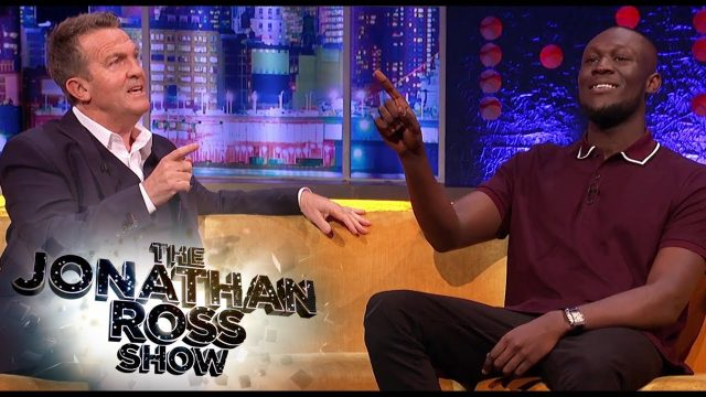 BRITHOPTV: [TV Interview] Stormzy (@Stormzy1) Talks Possible Collaboration With Bradley Walsh (@BradleyWalsh) And Plays The Chase Against The Governess On The Jonathan Ross Show | #Grime #Chatshow