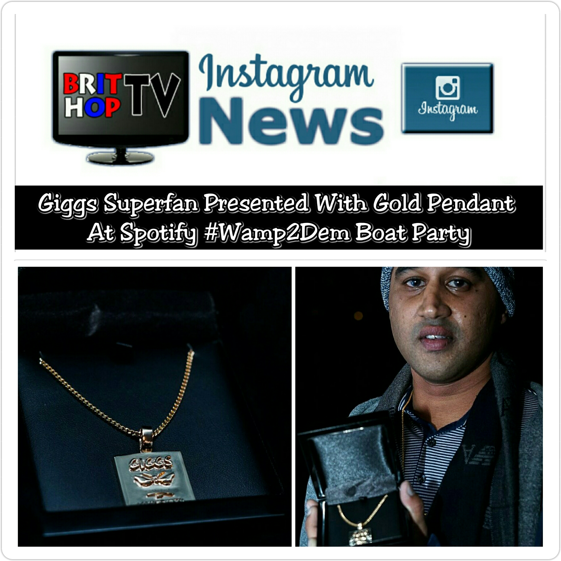 [News] Giggs Superfan Presented With Gold Pendent At Spotify #Wamp2Dem Boat Party | #MusicNews #UKRap #UKHipHop