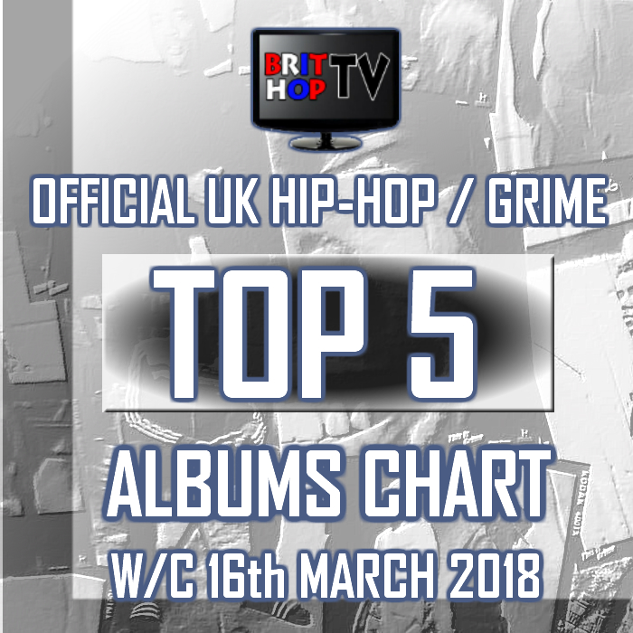 BRITHOPTV: [Chart] Official UK Hip-Hop/Grime Top 5 Albums Chart W/C 16th December 2018 | #UKRap #UKHipHop #Grime