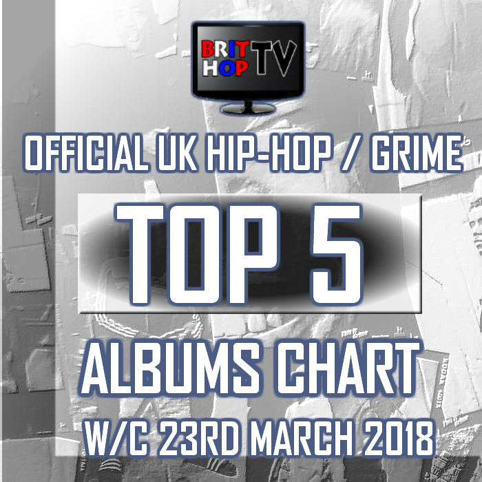 BRITHOPTV: [Chart] Official UK Hip-Hop/Grime Top 5 Albums Chart W/C 23rd March 2018 | #UKRap #UKHipHop #Grime
