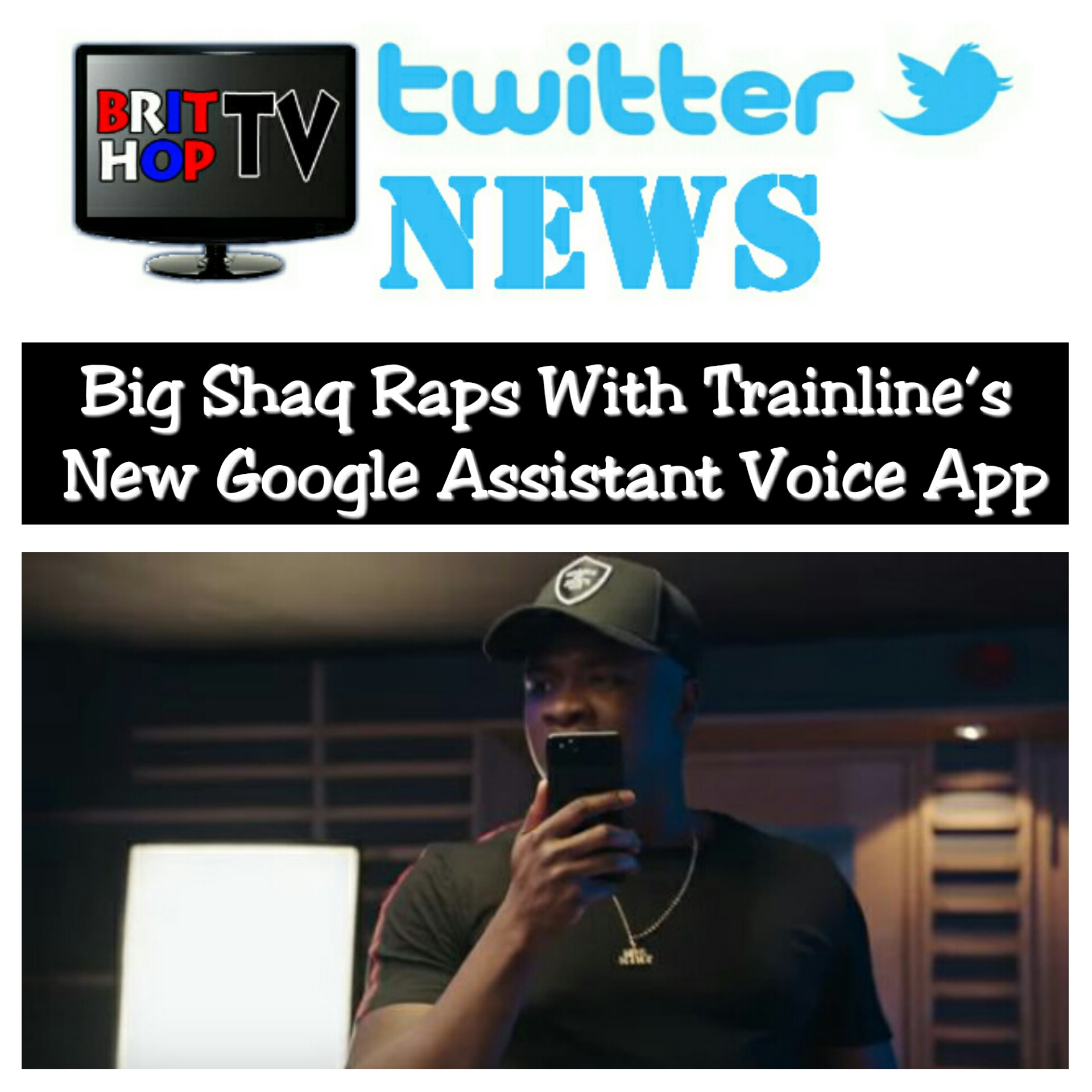 BRITHOPTV: [News] Big Shaq Raps With Trainline's New Google Assistant Voice App | #UkRap #MobileApp #Technology