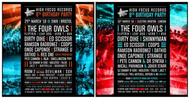 BRITHOPTV: [News/Event] High Focus Records (@HighFocusUK) 8th Birthday Party, Bristol - March 29, Brixton - March 30 | #UKRap #UKHipHop