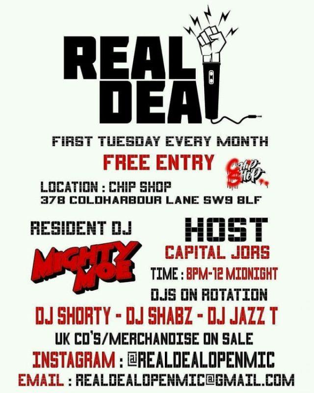 BRITHOPTV: [Event] Real Deal Open Mic, Chip Shop, 378 Coldharbour Lane , Brixton SW9 8LF  | #UKRap #UKHipHop