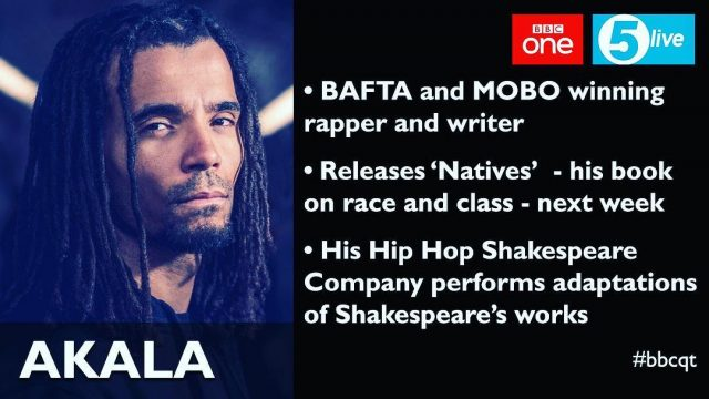 BRITHOPTV: [News] Akala To Appear On BBC Question Time | #UKHipHop #Politics #Discussion